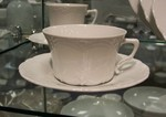Hutschenreuther Baronesse White Tea Cup & Saucer