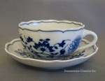 Hutschenreuther Blue Onion Low Tea Cup & Saucer