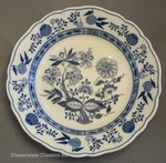 Hutschenreuther Blue Onion Rimmed Dinner Plate