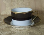 Haviland Limoges Illusion Chocolate Cup / Saucer