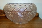 LE Smith Holiday Pattern Large Punch Bowl