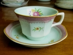 Adams Lowestoft cup & saucer English Calyx Ware