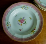 "Adams Lowestoft soup bowl(s) 7 3/4"" English Calyx Ware"