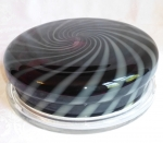 Art Glass pastry keeper dome cake plate amethyst swirl