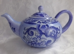 Ashby Tea teapot blue hand painted in China