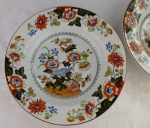"Ashworth ""Open Bible"" 2 rimmed soup bowls 19th century"