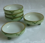 Royal Austria salt cellars, set of 5, hand painted, O&E G