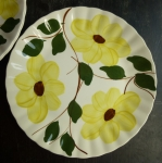 Blue Ridge, Ridge Daisy lunch plate(s) yellow 9 1/4""