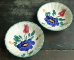 Blue Ridge Medley (2) Berry or Dessert Bowls 5 3/8""