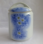 Blue Floral coffee or tea Canister