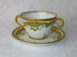 CFH Haviland French Limoges bouillon cup saucer
