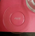 Coke Salad Plates, set of 6 clear glass, Coca-Cola authentic