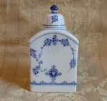 Royal Copenhage Blue Fluted Tea Caddy antique porcelain