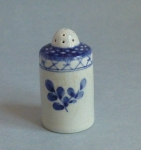 Aluminia Faience Tranquebar Blue tiny pepper shaker 1952