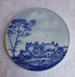 Blue Delft trivet or hot plate hand painted Rosenthal