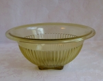 Yellow Depression Glass Rolled Edge Mixing Bowl 9 3/4
