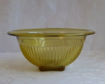 Amber/Yellow Depression Glass Rolled Edge Mixing Bowl 9 3/4