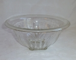 Clear Depression Glass Rolled Edge Mixing Bowl 9 5/8""