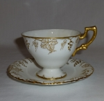 Royal Crown Derby Vine Gold, 2 Tea Cup & Saucer Sets