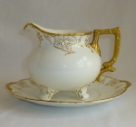 Royal Crown Derby Vine Gold, Sauce Boat four toed & Under Pl