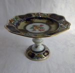 Dresden antique porcelain compote, Carl Thieme