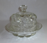 Eyewinker Glass Butter Dish dome lid  Dalzell Gilmore Leight