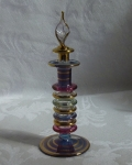 Egyptian Art Glass Perfume Bottle, stack ring shape