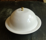Veneto Enamelware Covered Bowl, White