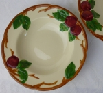 Franciscan Apple USA 2 rim soup bowls Gladdin McBean 1950s