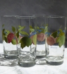 Franciscan Orchard Glade Set of 4 tall iced tea glasses