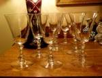 Fostoria Glass Rutledge water goblets set of 7 discontinued
