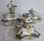 French porcelain perfume bottle vanity set made for Rich's