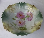 Germany fruit salad bowl blow out mold signed antique