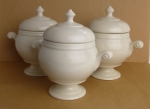 Homer Laughlin 3 individual soup tureens ivory restaurant