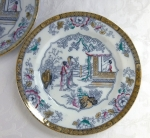 "Staffordshire ""Chinese"" (2) 10 1/4"" dinner plates BW&C 1881"