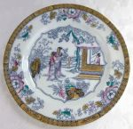 "Staffordshire ""Chinese"" 10 3/8"" dinner plate BW&C 1881"