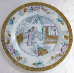 "Staffordshire ""Chinese"" 10 5/8"" dinner plate BW&C 1880"