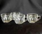 Heisey Glass Punch Cups set of 4 Colonial, pulled handle