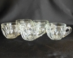 Heisey Glass Punch Cups set of 5 Colonial molded handle