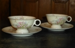 Haviland Limoges NY 2 Apple Blossom Tea Cup & Saucer sets