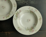 Haviland Limoges NY (2) Apple Blossom Rim Soup Bowls