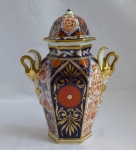 Chamberlain's Worcester tea caddy, Imari 19th century