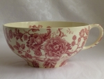 Johnson Bros Colossal Cup, red English Chippendale