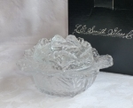 LE Smith Cabbage Covered Bowl or Dish Clear Glass