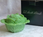 LE Smith Cabbage Covered Bowl or Dish Jadite Glass