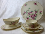 Lenox China Peachtree Service for 4 & sauce boat set