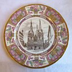 Mason's Litchfield Cathedral, 1981 Christmas plate, 10 inch