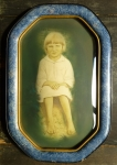 Little Boy Antique Child Portrait tinted photo convex bubble