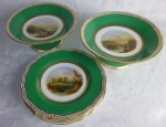 Copeland antique porcelain dessert set painted scenes C
