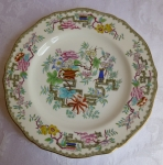 "Minton Chinese Tree lunch plate 8 3/4"" Staffordshire 1875-18"
